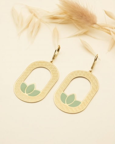 Maxi Boucles d'oreilles Madison - Vert Eucalyptus