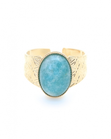 Bague Manhattan en amazonite