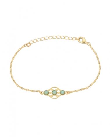 Bracelet chaîne volubilis en amazonite