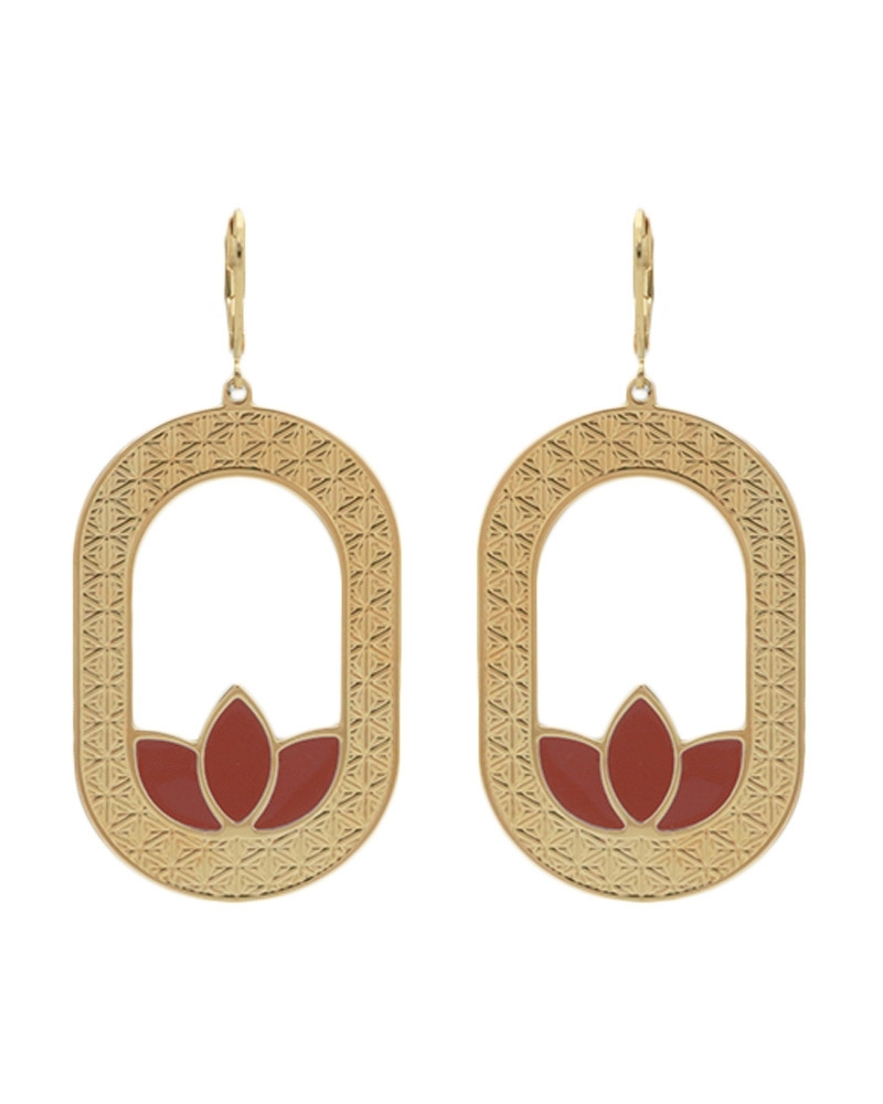 Maxi Boucles d'oreilles - Madison en rouge terracotta