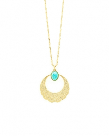Collier Katniss en amazonite