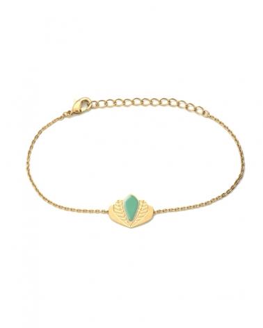 Bracelet chaîne - Chloé vert eucalyptus