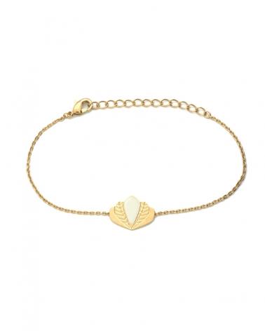 Bracelet chaîne - Chloé ivoire