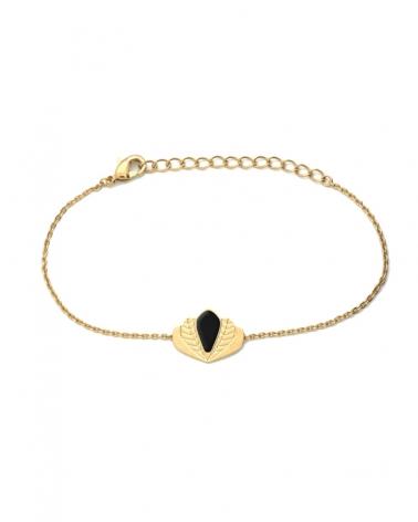 Bracelet chaîne - Chloé noir