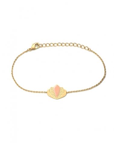 Bracelet chaîne - Chloé nude