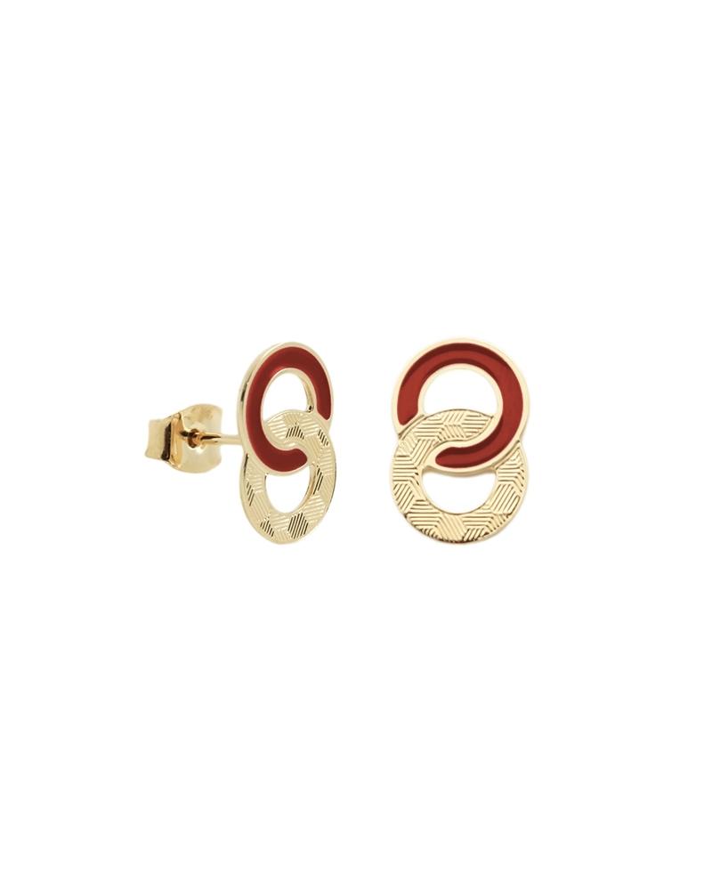 Boucles d'oreilles puces Isadora TerraCotta