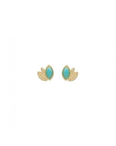 Boucles d'oreilles Alice Mini puces avec Amazonite