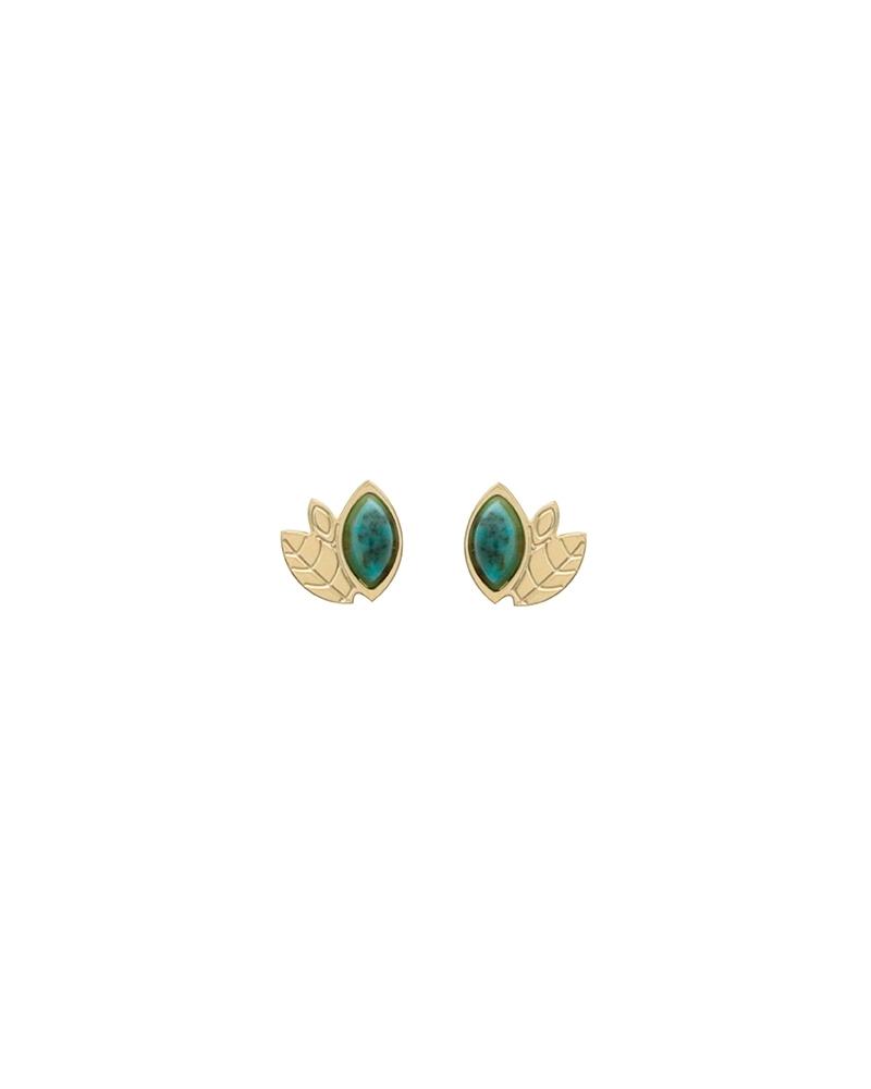 Boucles d'oreilles Alice Mini puces en Jaspe Africain