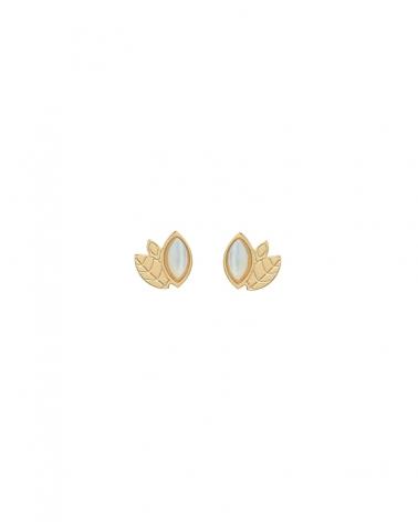 Boucles d'oreilles Alice Mini puces en Nacre