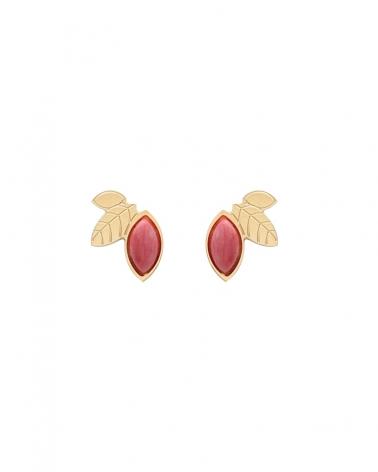 Puces d'oreilles Alice en rhodonite
