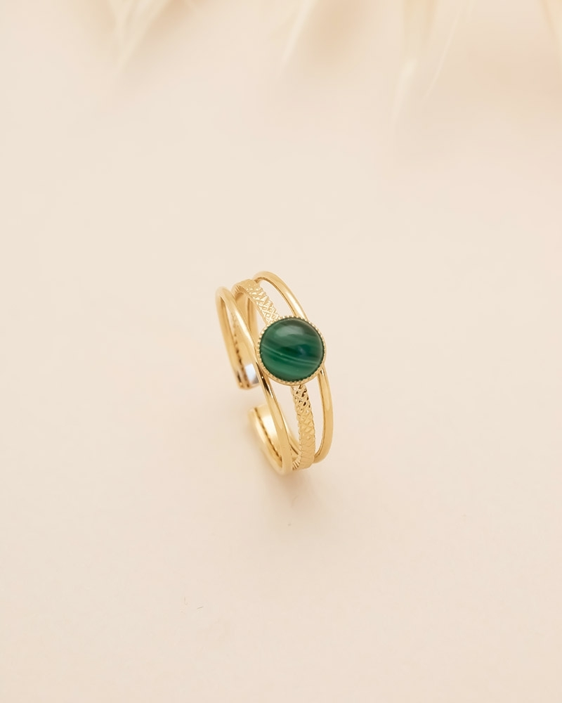 Bague fine Kali - Malachite