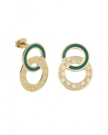 Boucles d'oreilles puces Isadora Vert Emeraude