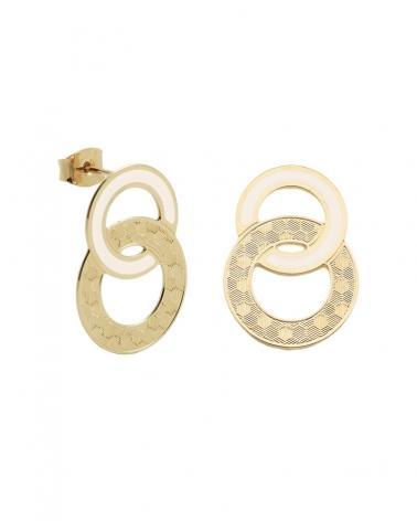 Boucles d'oreilles puces Isadora Ivoire