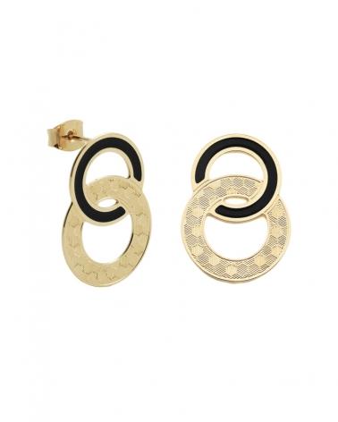 Boucles d'oreilles puces Isadora Noires