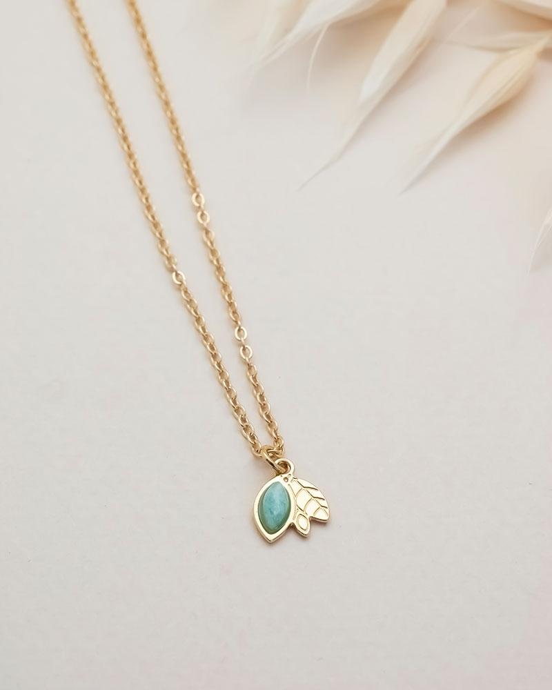 Petit collier Alice - Amazonite