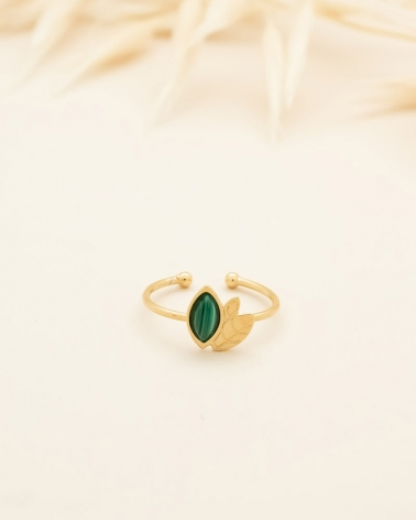 Bague Alice - Malachite
