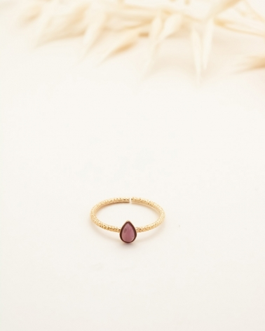 Bague Goutte Lili - Rhodonite
