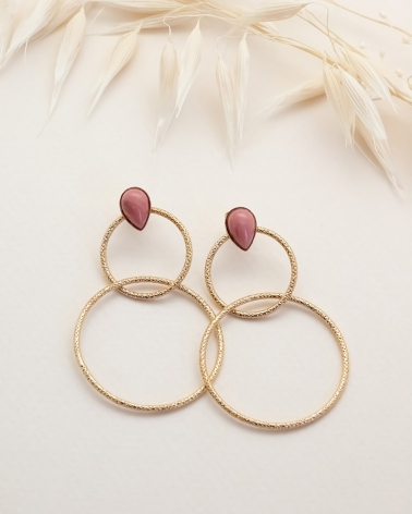 Lili Boucles Doubles -  Rhodonite