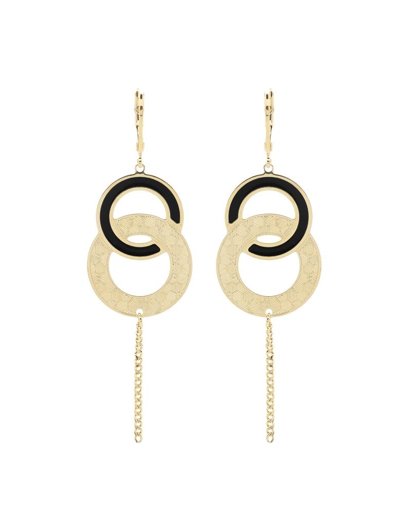 Boucles d'oreilles pendantes Isadora Noires