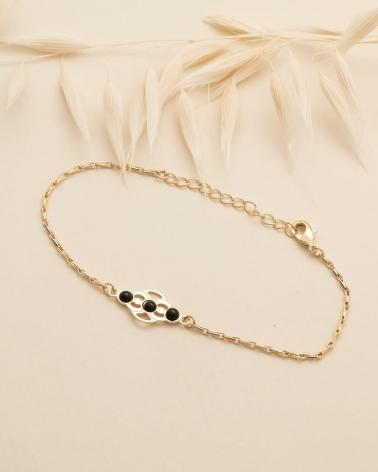 Bracelet Volubilis - Agate Noire