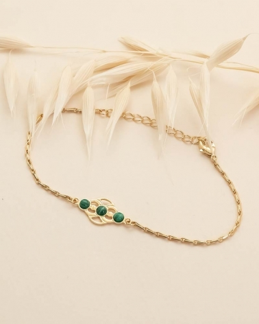 Bracelet Volubilis - Malachite