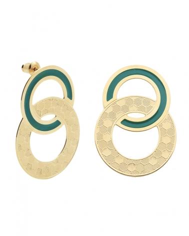 Maxi puces d'oreilles Isadora Vert Emeraude