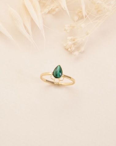 Bague Junon - Malachite