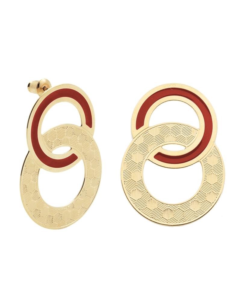 Maxi puces d'oreilles Isadora TerraCotta