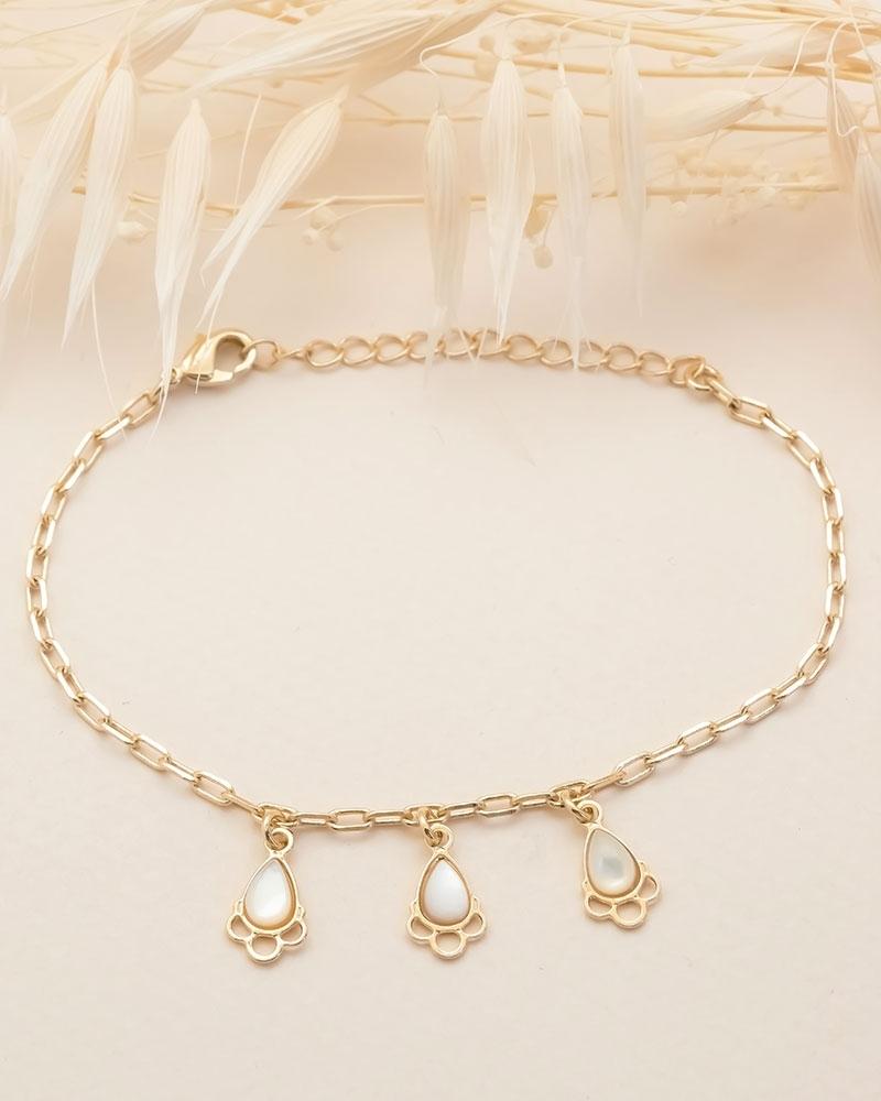 Bracelet chaîne Junon - Nacre