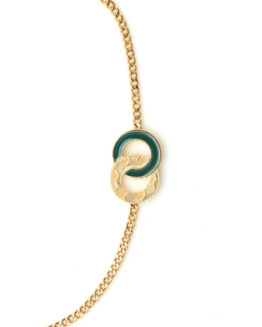 Bracelet chaîne Isadora Vert Emeraude Zoom