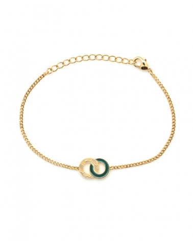Bracelet chaîne Isadora Vert Emeraude