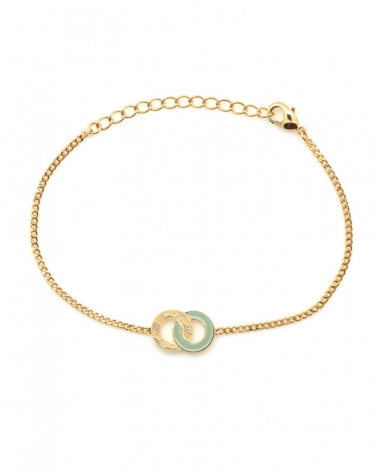 Bracelet chaîne Isadora Vert Eucalyptus