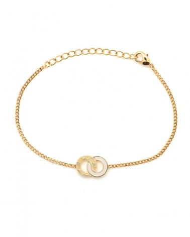 Bracelet chaîne Isadora Ivoire
