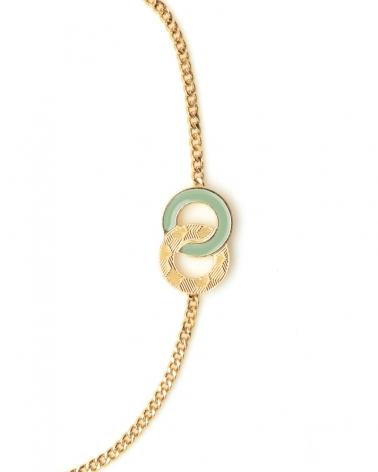 Bracelet chaîne Isadora Zoom Vert Eucalyptus