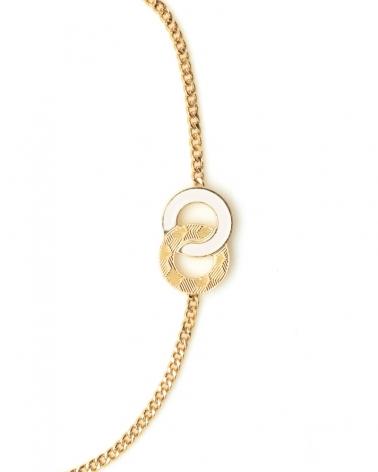 Bracelet chaîne Isadora Zoom ivoire