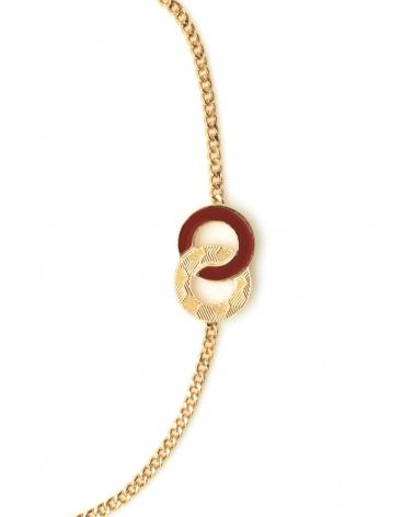 Bracelet chaîne Isadora Zoom TerraCotta
