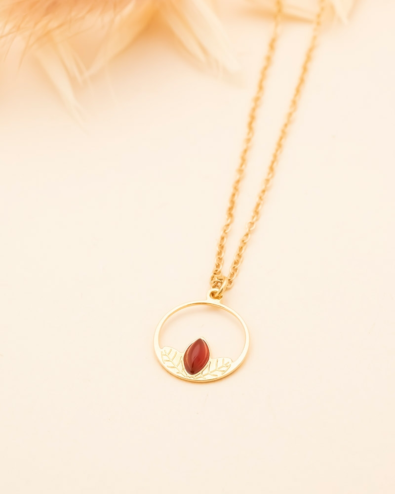 Collier Petit Cercle Alice - Cornaline