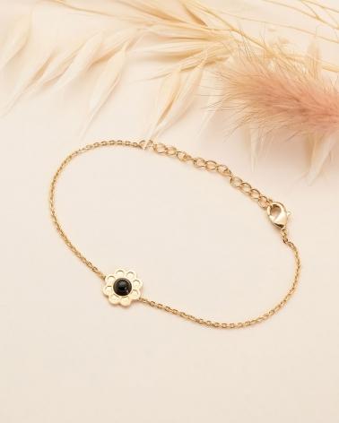Bracelet Chaîne Coachella - Agate Noire