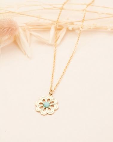 Collier Grande Fleur - Amazonite