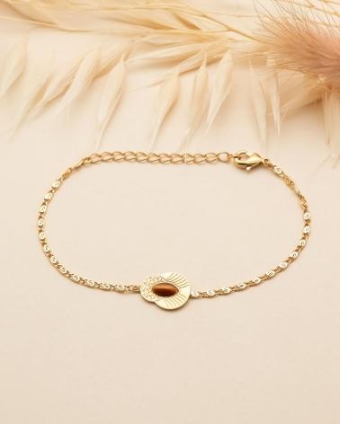 Bracelet chaîne Honolulu - Oeil de Tigre