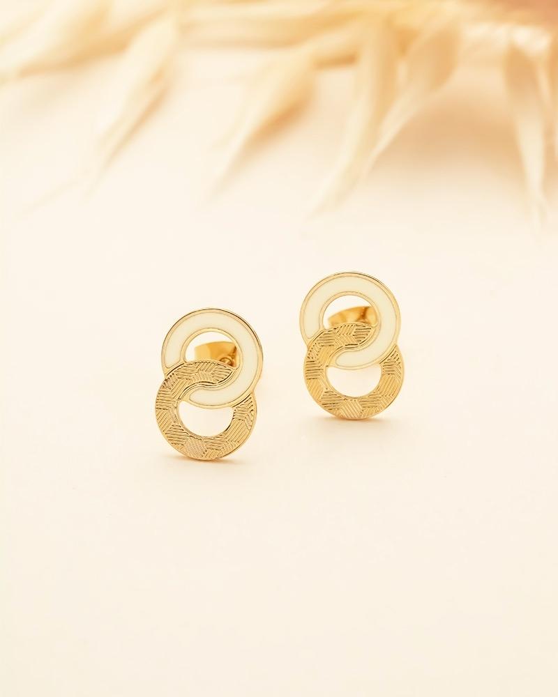 Petites Puces d'oreilles Isadora - Ivoire