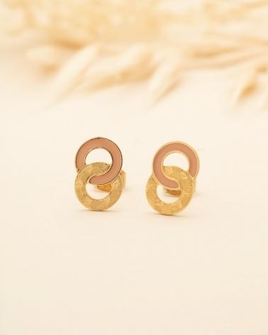 Petites Puces d'oreilles Isadora - Nude