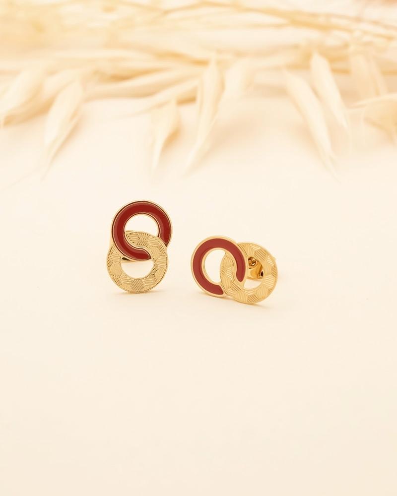 Petites Puces d'oreilles Isadora - Terracotta
