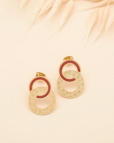 Grandes Puces d'oreilles Isadora - Terracotta