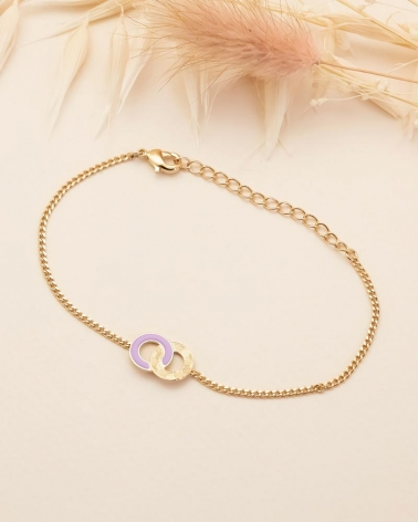 Bracelet Chaîne Isadora - Lilas