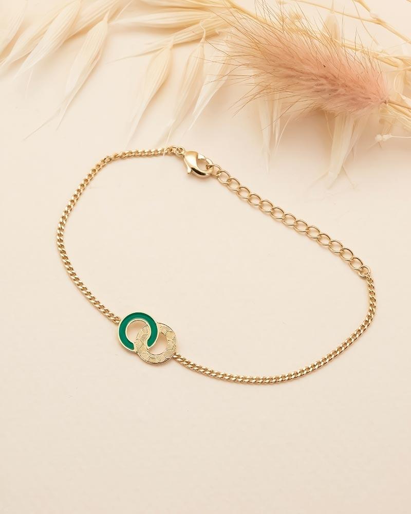 Bracelet Chaîne Isadora - Vert Emeraude