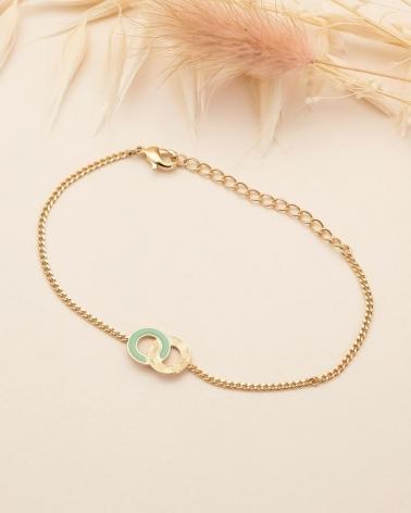Bracelet Chaîne Isadora - Vert Eucalyptus