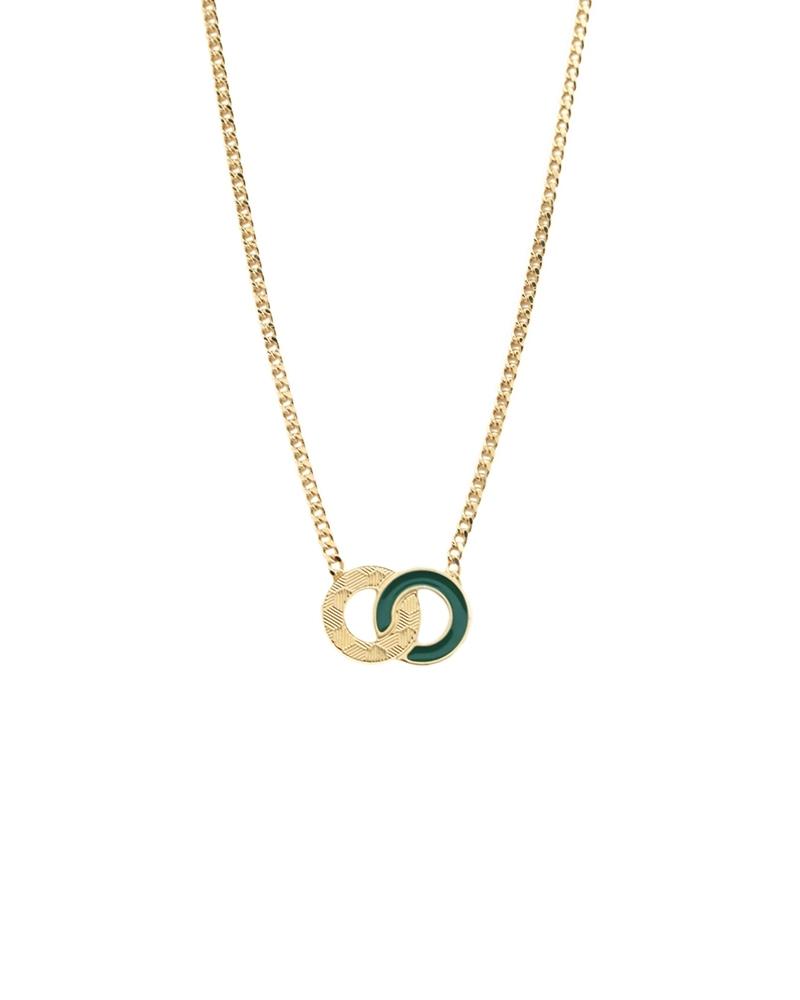 Petit Collier Isadora Vert Emeraude