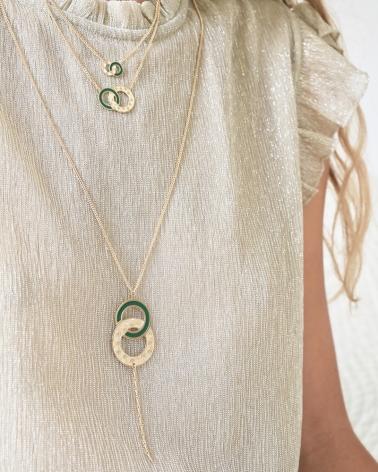 Sautoir et Colliers Isadora en Vert Émeraude