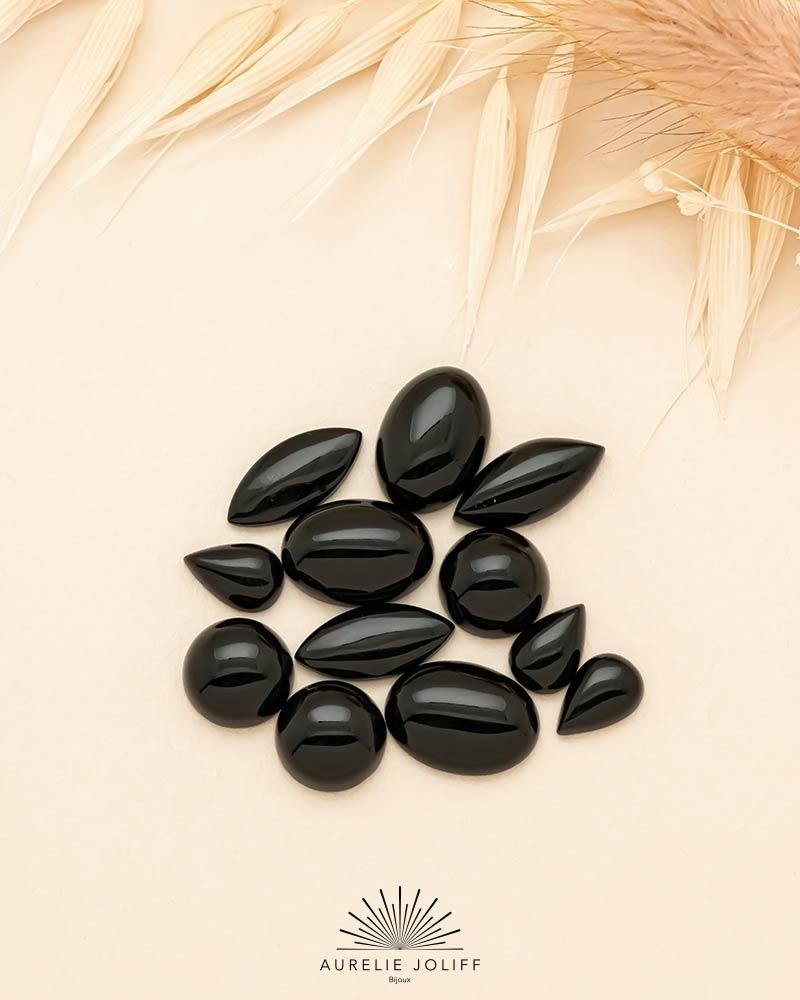 Pierre - Agate noire